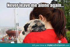 Never leave me alone