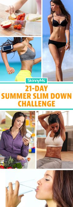 Take the 21 Day Summer Slim Down Challenge. Start today! ☀️