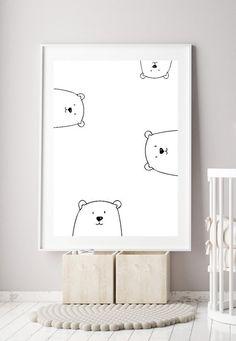 Printable Minimalist Nursery Art Ideas For Less Th Nursery Paintings, Nursery Prints, Nursery Wall Art, Nursery Decor, Paintings For Kids Room, Baby Room Wall Art, Nursery Frames, Painting Walls, Wall Décor