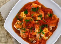 A delicious Creole style seafood dish, perfect for entertaining. Great with rice or salad