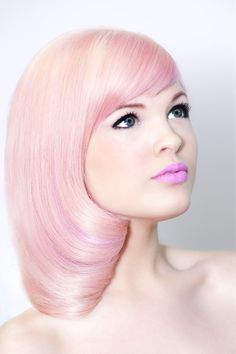 Trendy pastel pink hair this is such a cute color Pretty Hairstyles, Straight Hairstyles, Pink Hairstyles, Hair Rainbow, Cotton Candy Hair, Medium Hair Styles, Long Hair Styles, Pastel Pink Hair, Blonde Pink