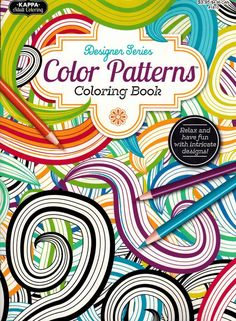 Adult Coloring Book With Colored Pencils 12 Colors Fish For