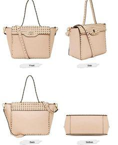 New Fashionable TMC Women's Rivet handbag Elegant Pinks Shoulder bag Totes | eBay