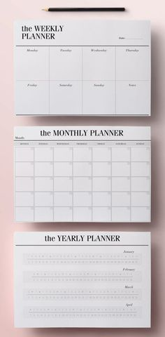 free printable 2017 monthly calendar and weekly planner ideas
