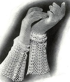 Gloves with Lace Cuff Pattern #219