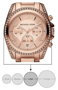 77d52569370 Michael Kors 'Blair' Chronograph Watch, $225 Link Bracelets, Michael Kors  Watch,