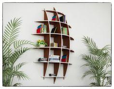 Sail Bookcase Size 1: 90 H x 17W x 57 L cm Material's thickness: 3/8 - 10mm Size 2: 120 H x 21W x 76 L cm Material's thickness: 3/8 - 10mm (IMPORTANT!