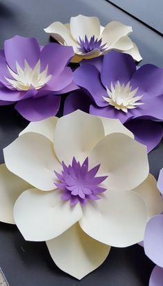 Fondo de flor de papel pared de flores de por PoshPaperDesignss