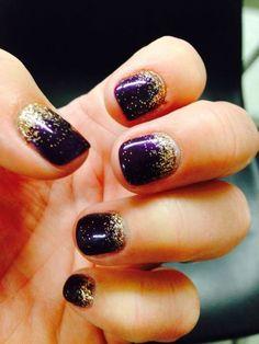 My Vegas Nails! Purple with rose gold glitter Meine Vegas Nails! Purple Glitter Nails, Rose Gold Nails, Sparkle Nails, Red Nails, Hair And Nails, Purple Nail Designs, Nail Art Designs, Bright Nail Art, Vegas Nails