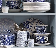 Burleigh Pottery, Stoke on Trent,  makers of Blue and White China and Fine English Earthenware since 1851