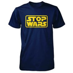 Stop Wars Mens T-Shirt - Anti War Pacifist Peace Shirt, via ETSY.