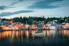 From Bar Harbor to Portland explore the best places to live in Maine. Here are some of the best neighborhoods in Maine to live and spend your days. Harbor Park, Harbor Town, Southwest Harbor Maine, New Harbor Maine, Visit Maine, New England Travel, Portland Maine, Beautiful Places, Places To Visit