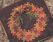 PATTERN TWISTER HARVEST Pinwheel Fall Autumn Wreath Quilt Wall Hanging