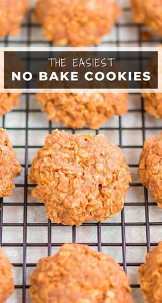Chocolate No Bake Cookies are the easiest, most delicious cookies. With no oven needed and just a few ingredients, these cookies are soft, chewy and ready in no time!  #cookies #nobake #nobakecookies #nobakerecipes #nobakedessert #dessert #cookierecipes #eggfreecookies Easy No Bake Cookies, Egg Free Cookies, Chocolate No Bake Cookies, Easy No Bake Desserts, Yummy Cookies, Chocolate Recipes, Easy Desserts, Delicious Desserts, Sweet Cookies