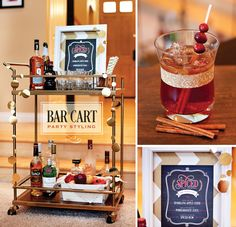 Bar Cart Styling Tips + A {Simple!} Fall Spiced Cocktail and Free Printable from HWTM :) #TargetStyle #TargetGoesGlam
