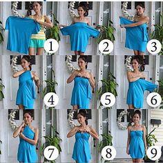 Tshirt Beachy Coverup diy tutorial  » DIY Fashion – 3 Ways To Repurpose and Make New!