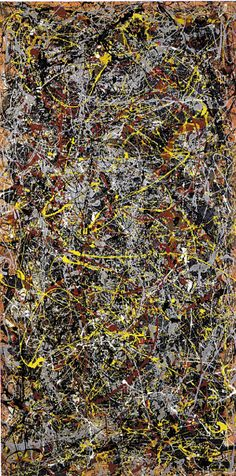 ELEMENT LINE Title: No. 5 Artist: Jackson Pollock, 1948 Art Movement: Abstract Expressionism