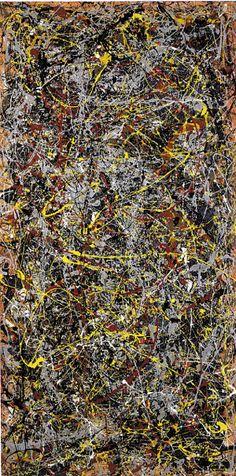 ELEMENT LINE Title: No. 5 Artist: Jackson Pollock, 1948 Art Movement: Abstract Expressionism