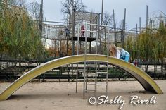 Small slide and climbing structure at the Jardin de Tuilleries, Paris