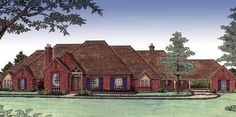 Eplans European House Plan - Fit For Royalty - 4825 Square Feet and 4 Bedrooms from Eplans - House Plan Code 4000 Sq Ft House Plans, House Plans One Story, Ranch House Plans, Craftsman House Plans, Dream House Plans, Story House, House Floor Plans, House Plan With Loft, European House Plans
