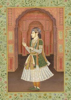 The Mughal Prince Shah Shuja, Mughal Watercolor Painting On PaperArtist: Navneet Parikh Mughal Paintings, Indian Paintings, Rajasthani Painting, Mughal Empire, Painting Gallery, Paper Artist, Traditional Paintings, Portraits, National Museum