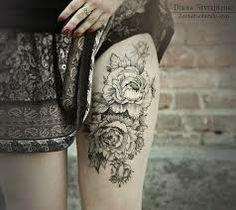 thigh tattoos women - Google Search