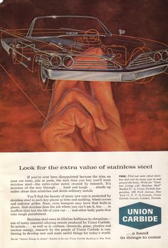 1961 Union Carbide Stainless Steel ad