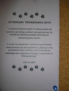Veterinary Technicians Oath