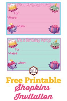 shopkins birthday party printables