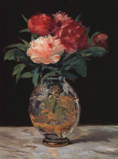 peira:  Edouard Manet (1832-1883):  Bouquet of Peonies (not dated) via Terminartors
