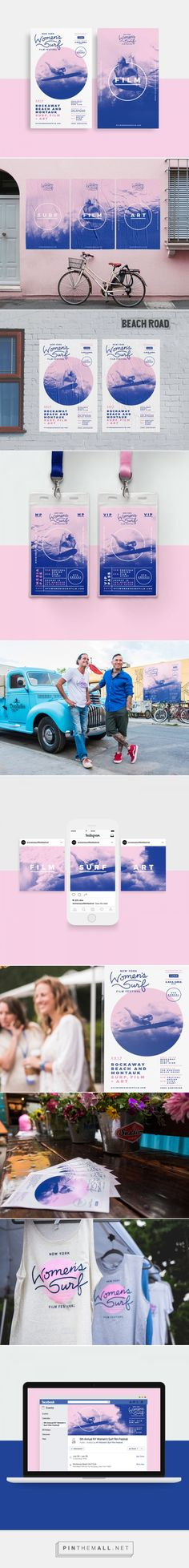 New York Women's Surf Film Festival Branding on Behance... - a grouped images picture - Pin Them All
