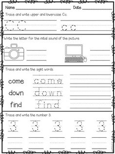 Worksheets Daily Morning Work 1st Grade morning work first grade november packet fall differentiated work