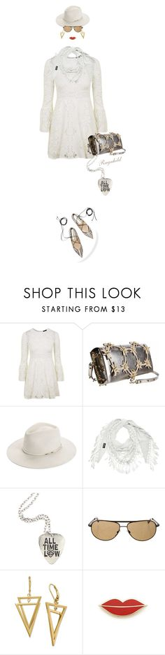 """""""White Lace Dress"""" by ragnh-mjos ❤ liked on Polyvore featuring Topshop, rag & bone, Tom Ford and Georgia Perry"""