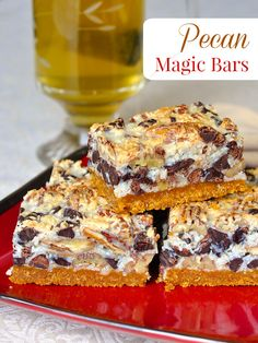 Pecan Magic Bars - a classic, super easy, chewy, nutty, chocolatey cookie bar that's practically foolproof for even the most novice baker and they freeze exceptionally well too.