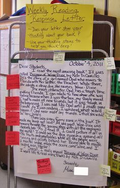 Love this idea. It definitely would help students learn about reading response! Teaching My Friends!: Weekly Reading Response Letters: Part 1 Reading Lessons, Reading Skills, Reading Resources, Reading Strategies, Reading Groups, Reading Stations, Reading Activities, Writing Skills, Educational Activities