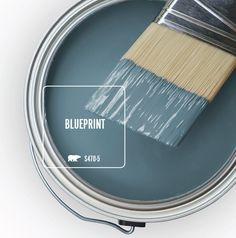 Color of the Month: Blueprint Behr Paint Colors, Interior Paint Colors, Paint Colors For Home, House Colors, Ocean Blue Paint Colors, Coastal Paint Colors, Office Paint Colors, House Paint Interior, Neutral Paint Colors