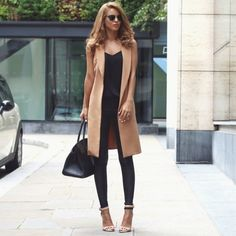 nude, black, casual, chic, outfit, idea
