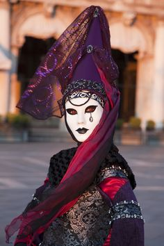 Carnival - Venice, Italy by Tim Mannakee Venetian Costume Venetian Carnival Masks, Carnival Of Venice, Venetian Masquerade, Masquerade Ball, Venetian Costumes, Venice Carnivale, Venice Mask, Arte Peculiar, Costume Venitien