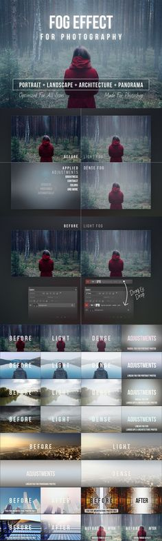 Fog Effect for Photography. Photoshop Layer Styles. $6.00