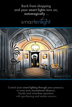Control Smart Lighting with Presence, Geo-fencing and Motion Sensors Smart Lights, Fencing, Smart Home, Geo, Mansions, Lighting, House Styles, Smart House, Fences