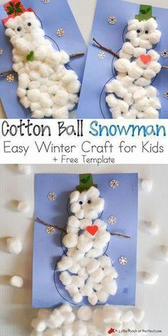 Easy toddler crafts for winter cotton ball snowman easy winter craft for kids a little pinch . easy toddler crafts for winter Daycare Crafts, Xmas Crafts, Fun Crafts, Easy Christmas Crafts For Toddlers, Christmas Crafts For Kindergarteners, Childrens Christmas Crafts, Snowman Crafts For Preschoolers, Kids Christmas Activities, Kindergarten Christmas Crafts