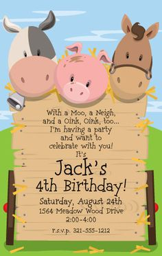 Hey, I found this really awesome Etsy listing at https://www.etsy.com/listing/244292326/barnyard-party-invitation-western