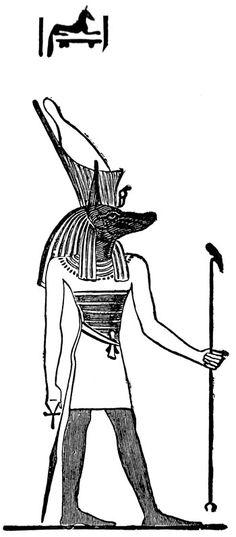 Anubis, jackal-headed Egyptian god