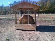 Build your own hay feeder... 6x6