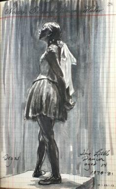 Little Dancer from his sketchbook by artist Don Colley -Faber-Castell Pitt artist pens