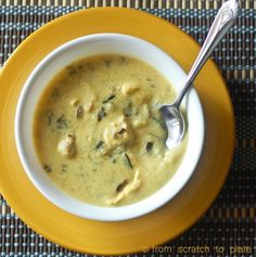 Love everything about this Slow Cooker Creamy Chicken and Wild Rice Soup by From Scratch to Plate, but especially the fact that no packaged mixes are involved and the use of coconut milk and turmeric.  [via Slow Cooker from Scratch] #HealthySlowCooker  #DairyFree  #GlutenFree