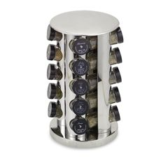 Kamenstein® Stainless Steel 20-Jar Filled Revolving Spice Rack Tower. Free refills for spices for five years!