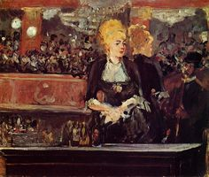 The Athenaeum -MANET, Edouard French Realist-Impressionist (1832-1883)_A Bar at the FoliesBergere Study 1881