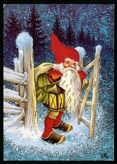 Christmas Hacks, Christmas Scenes, Noel Christmas, Vintage Christmas, Christmas Crafts, Swedish Christmas, Scandinavian Christmas, Christmas Knomes, Kobold