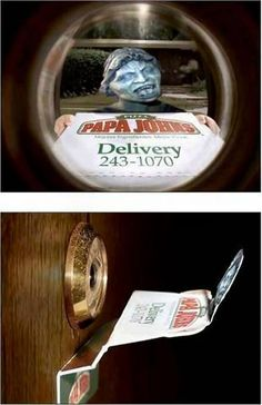 Doctor Who - Weeping Angel pizza delivery